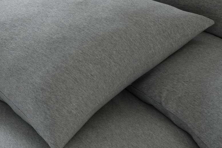 £7.99 for a pair of Sleep Down Essential super soft jersey pillow cases, from £9.99 for a fitted sheet from Five Minutes More – choose from four colours!