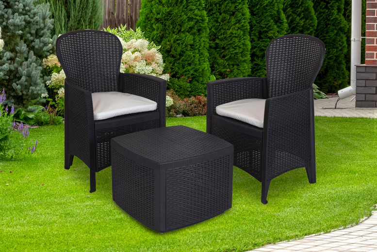 3pc Outdoor Garden Rattan Furniture Set (£149.99)