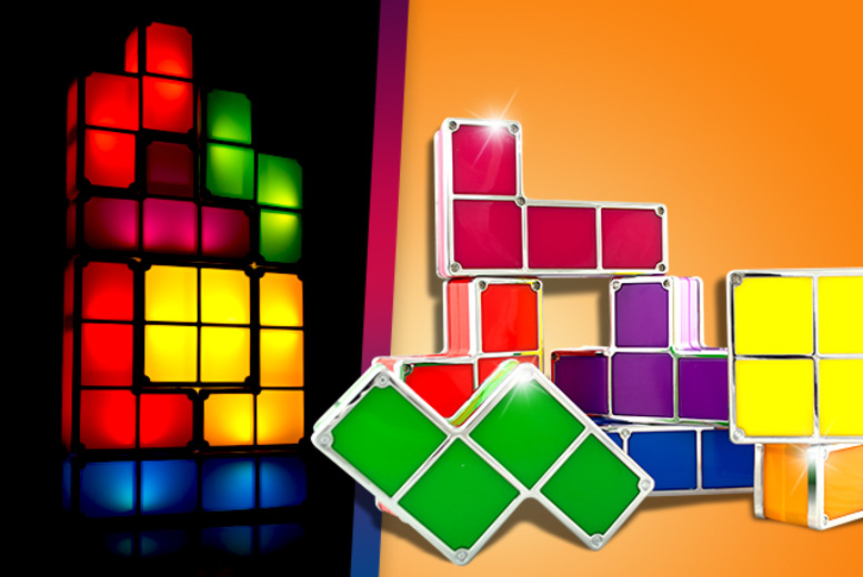 £21.99 instead of £36.66 for a multi-coloured Tetris night light from Wowcher Direct - save 40%