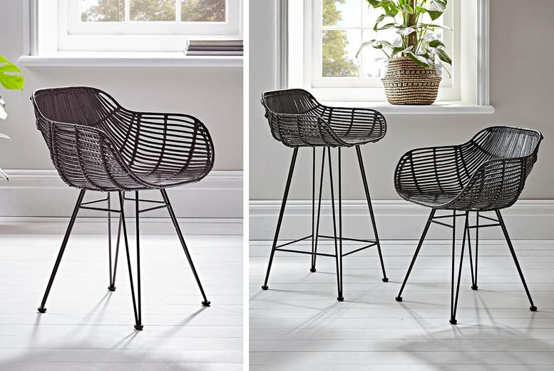 Rattan Chair – Black! (£149.99)