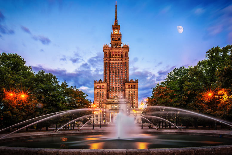 From £99pp (from Weekender Breaks) for a two-night 4* central Warsaw city break and return flights, from £159pp for three nights, or from £189pp for four nights - save up to 29% from Weekender Breaks