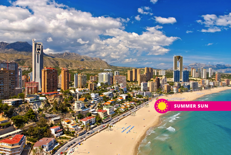 From £119pp (from Weekender Breaks) for a three-night full-board Benidorm, Spain hotel stay with return flights, from £209pp for five nights, or from £269pp for seven nights - save up to 31% from Weekender Breaks