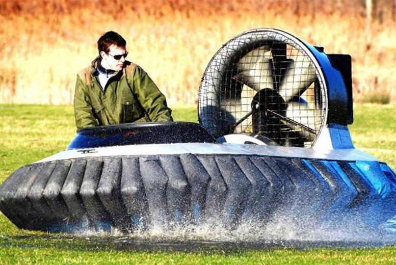 £29 for a 5-lap hovercraft experience or £34 for a 10-lap experience with Hovercraft Adventures, Sandwich