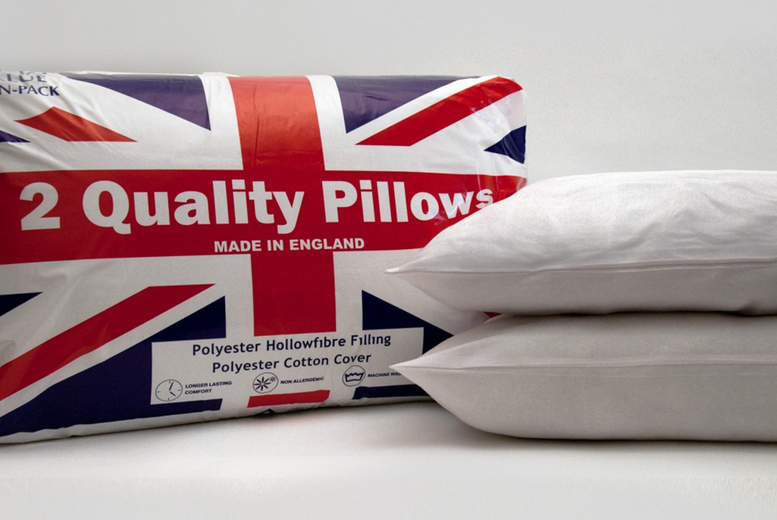 £6.99 instead of £29.99 for a pair of hollowfibre bounce back pillows or £12.99 for four pillows from Direct Warehouse – save up to 77%