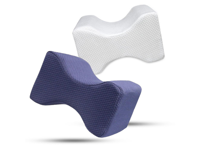 £9.99 for an orthopaedic memory foam leg pillow in white or navy from Fantasy Supply!