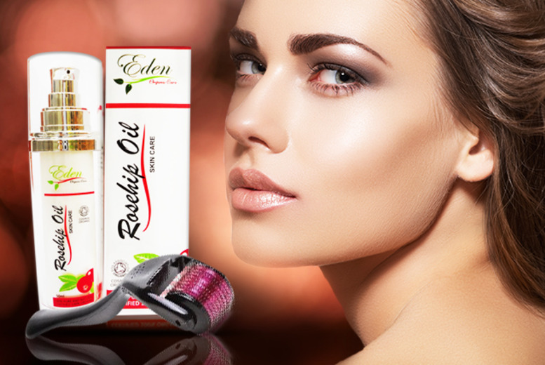 £18 instead of £60 (from Eden Organic Care) for two 50ml bottles of rosehip oil and a derma roller - save 70%