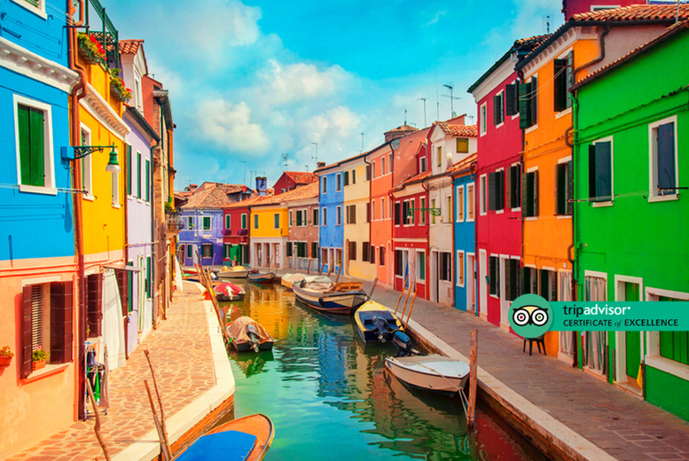 A Venice, Italy hotel stay with breakfast and return flights from six airports. From £99pp for two nights, from £139pp for three nights, or from £159pp for four nights - save up to 28% from Weekender Breaks