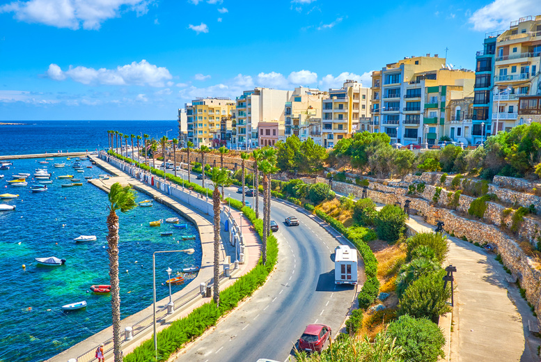A Malta hotel stay with return flights from six airports. From £69pp for two nights, from £89pp for three nights, from £99pp for four nights, from £109pp for five nights, or from £139pp for seven nights - save up to 58% from Weekender Breaks