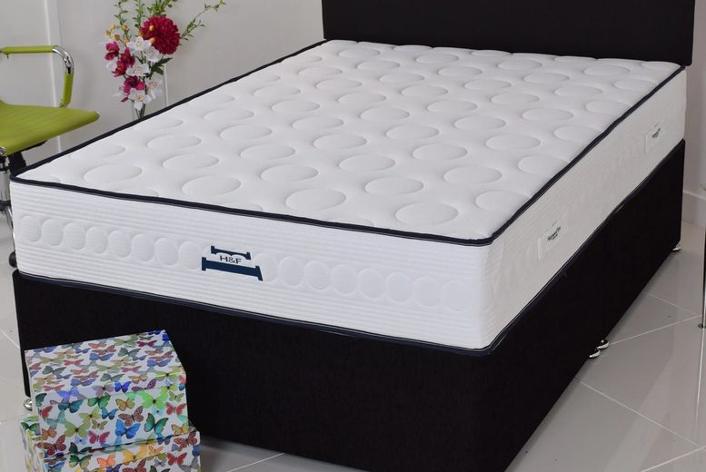 From £129 instead of £259.99 for a Bubbles memory foam mattress in small single to king size from Desire Beds – save up to 50%
