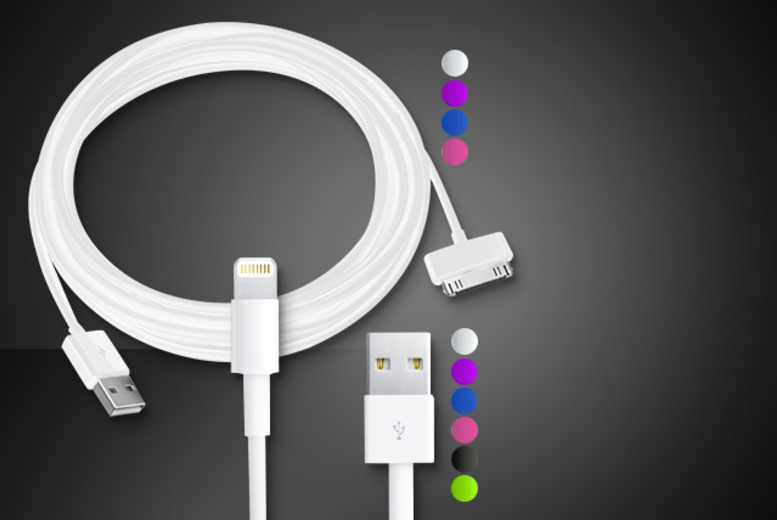 £4.99 instead of £11.99 (from Time 2) for a 3m charge and sync cable, £8.99 for 2, or £11.99 for 3 - save up to 58%