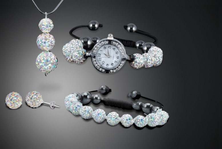 £16 instead of £89.99 (from Simply Jewellery) for a 5-piece disco ball jewellery set inc. mystery gift - save 82%