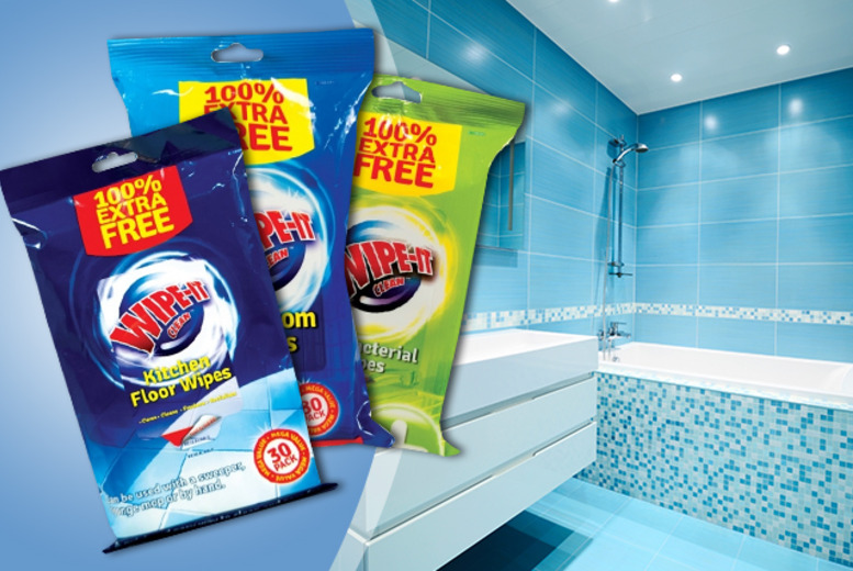 £6 instead of £15 (from Urshu) for 270 antibacterial surface-cleaning wipes - save 60%