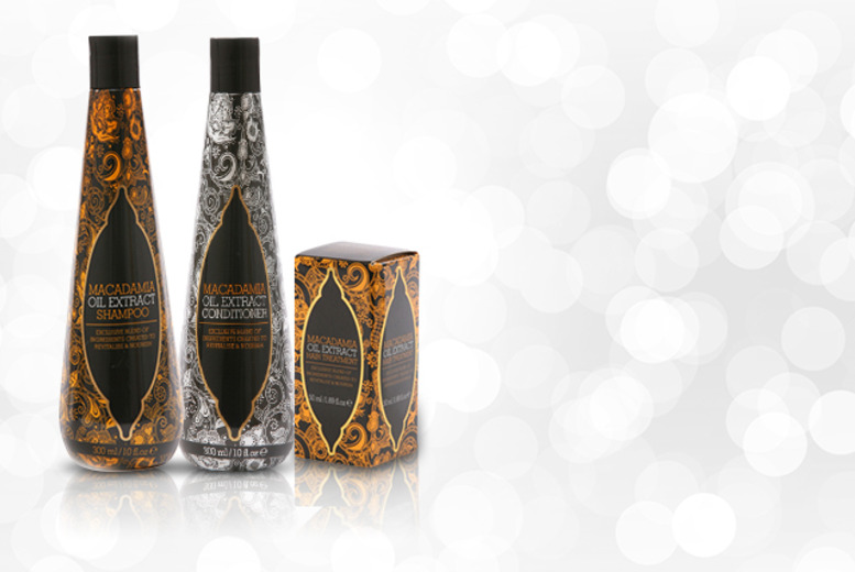 £8.99 instead of £21.99 (from Georgina's) for a 3pc macadamia oil hair care set, £12 for a 5pc set - save up to 59%