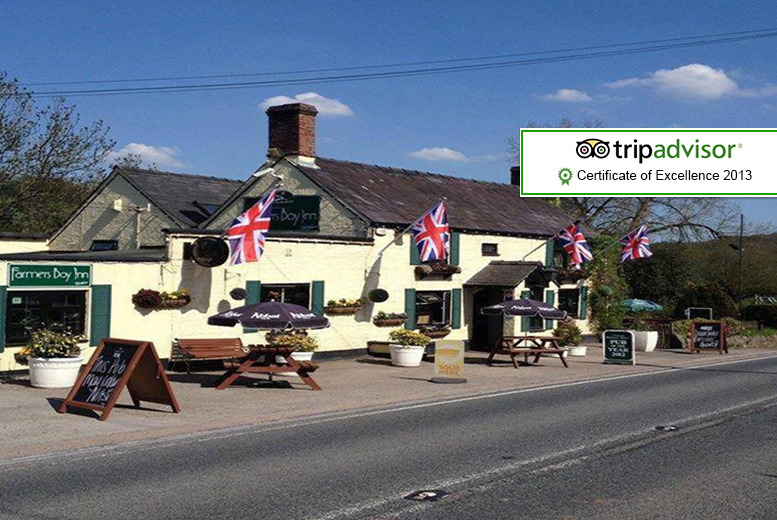 £39 instead of £89.95 (at The Farmer's Boy Inn, Gloucestershire) for a 1nt stay for 2 inc. breakfast - save 57%