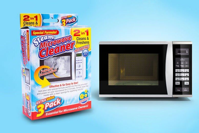 £3.99 instead of £19.99 for a steam miracle microwave cleaner - 3 pack from London Exchain Store - save up to 80%