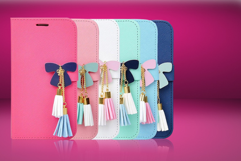 £6.99 instead of £24.99 (from Mobileheads) for a butterfly tassel or faux-leather smartphone wallet, £8.99 for a bundle - save up to 72%