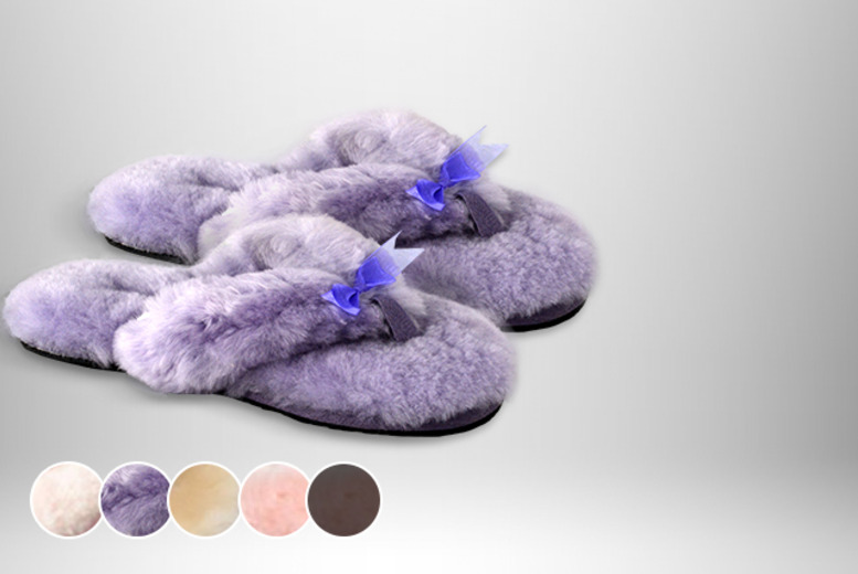 £15 instead of £60 (from Evaniy Accessories) for a pair of sheepskin flip-flops in your choice of 5 colours - save 75%