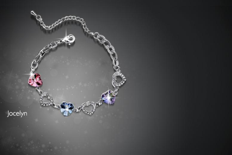 £10 instead of £70 (from Boni Caro) for a platinum-plated heart bracelet in your choice of 3 designs - save 86%