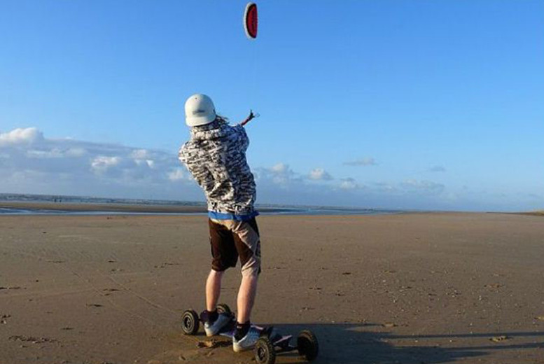 £69 instead of £138 for a full day of landboarding and kitebuggying at The Kitesurf Centre, East Sussex - save 50%