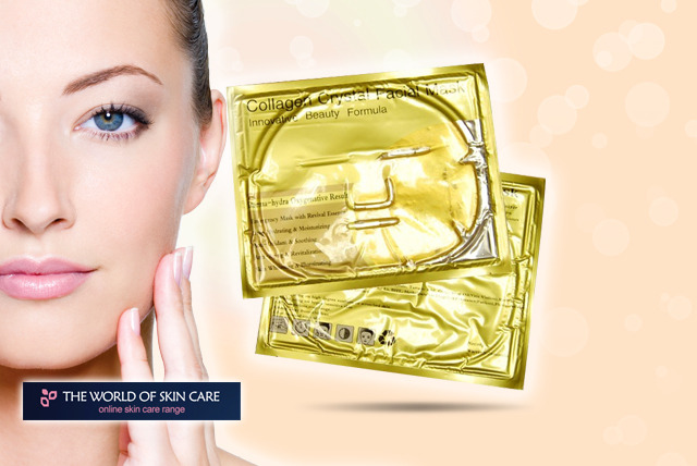 £9.99 for a pack of five 'gold' collagen face masks from The World Of Skin Care - save 89%