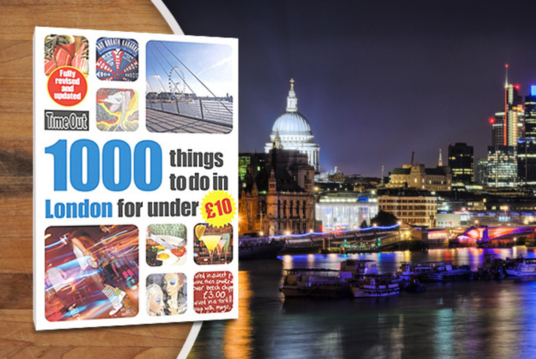 £7.99 (from Random House) for Time Out's '1000 things to do in London for under £10' in paperback