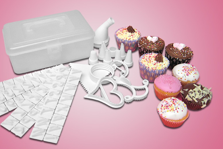 £6.99 instead of £15.99 for a 100-piece cake decorating set from Wowcher Direct - save 56%