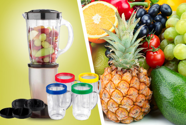 £19.99 instead of £59.99 (from Juggernet.com) for a 21-piece blender and accessories set - save 67%