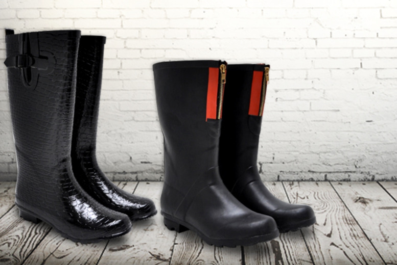£9 instead of £24.01 (from Welly Warehouse) for a pair of ladies' crocodile or zip detail wellies - save 63%