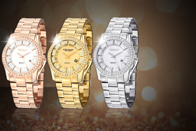 £59 instead of £290.22 (from JB Watches) for a ladies' Stuhrling Swiss diamond watch, or £99 for a Swarovski Crystal watch - save up to 80%