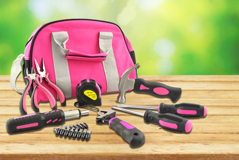 £15 instead of £24.96 for a 25-piece pink tool kit inc. wrench, screwdriver, carry bag and more from Wowcher Direct - save 40%