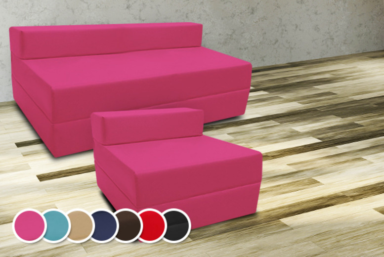 £29.99 for a single fold-out Z-bed in a choice of colours, or £49.99 for a double from Wowcher Direct