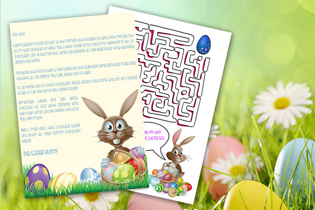 Personalised Easter Bunny Letter