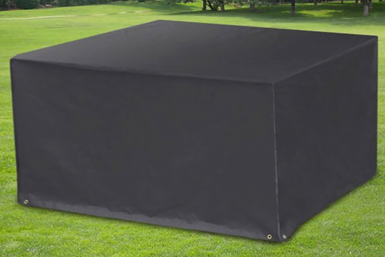 £12.99 instead of £39.99 for a large waterproof garden furniture cover or £15.99 an extra large cover from CN Hut- sa