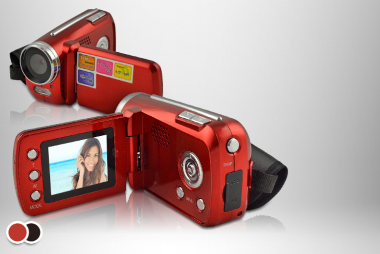 £24.99 instead of £49 (from J & Y) for an Winait 12MP digital video camera in red or black, or £29.99 to include a 4GB SD card - save up to 49%