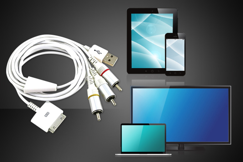 £8 (from Gizmo Gadgets) for an iPad to TV USB dock connector - view your pictures, video and films on your TV or computer screen and save 68%