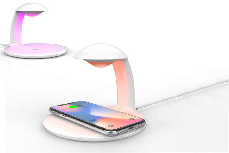 Image of 3-In-1 Led Wireless Charger Night Light | White | Living Social