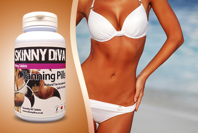 £9 instead of £24.99 (from Skinny Diva) for a 2-month supply* of 'tanning' tablets - save 64%