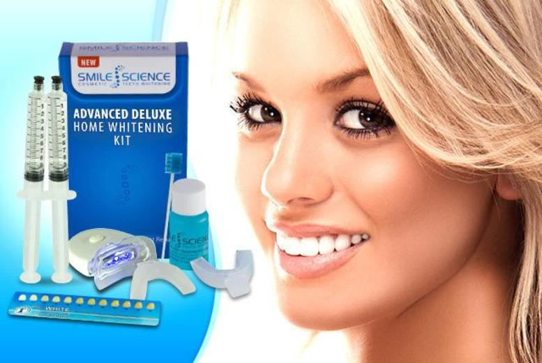 £19 instead of £129 (from Smile Science) for a peroxide-free LED home teeth whitening kit - brighten your smile and save 85%