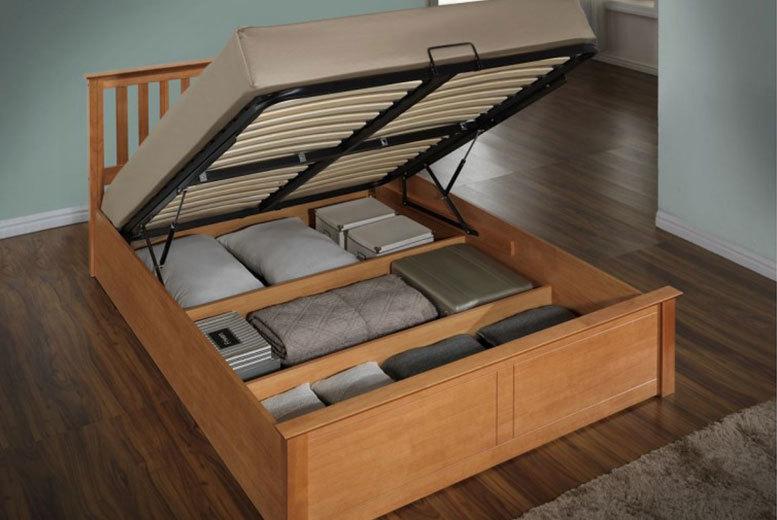 Wooden Ottoman Storage Bed