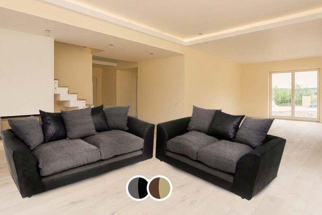 2 & 3-Seater Sofa Suite - 2 Designs!
