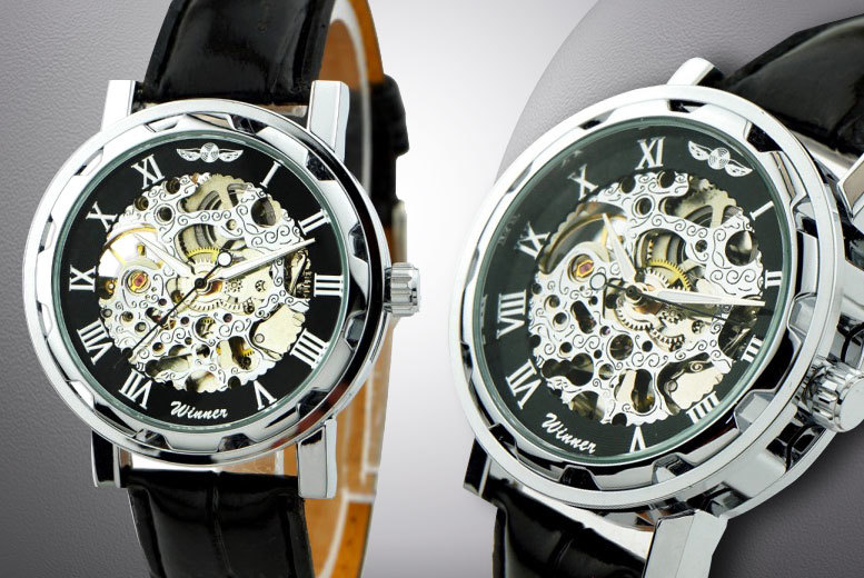 Hand-Winding Mechanical Skeleton Watch