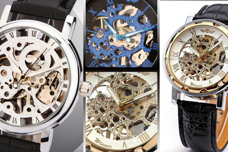 Hand-Winding Mechanical Skeleton Watch 2