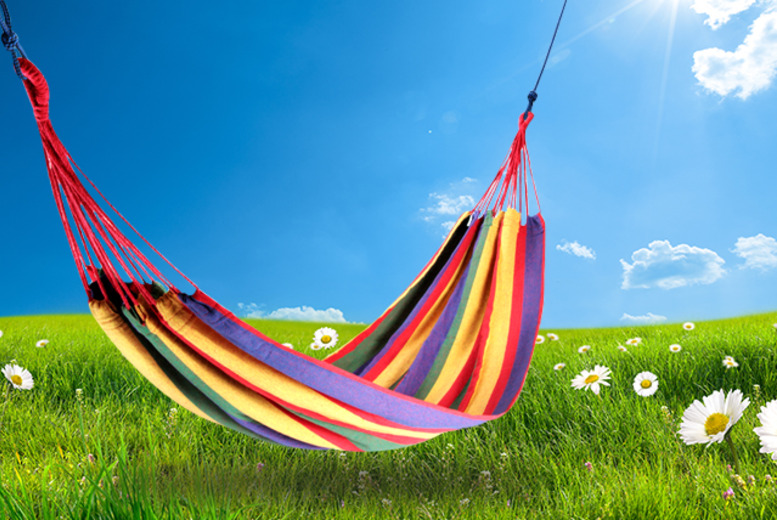 £9.99 instead of £29.99 (from Web 18) for a portable outdoor garden hammock - save 67%