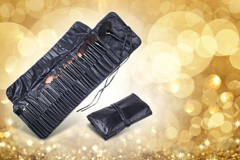 £15.99 instead of £59.99 (from Merchtopia) for a 32-piece pink or black professional makeup brush set and faux-leather case - save 73%