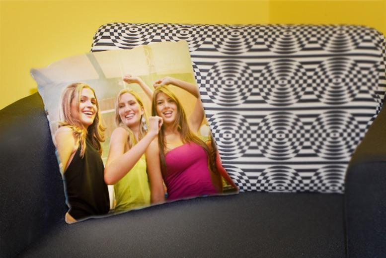 £9 instead of £17 (from Great Photo Gifts) for a 30cm x 30cm personalised photo cushion, or £14 for a 46cm x 46cm cushion - save up to 47%