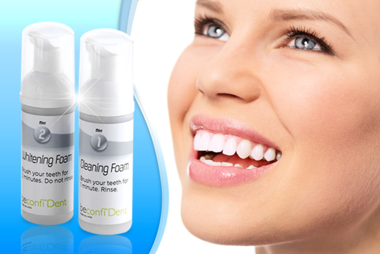 £18 instead of £39.99 (from beconfiDent) for a dual foam teeth whitening system - save 55%