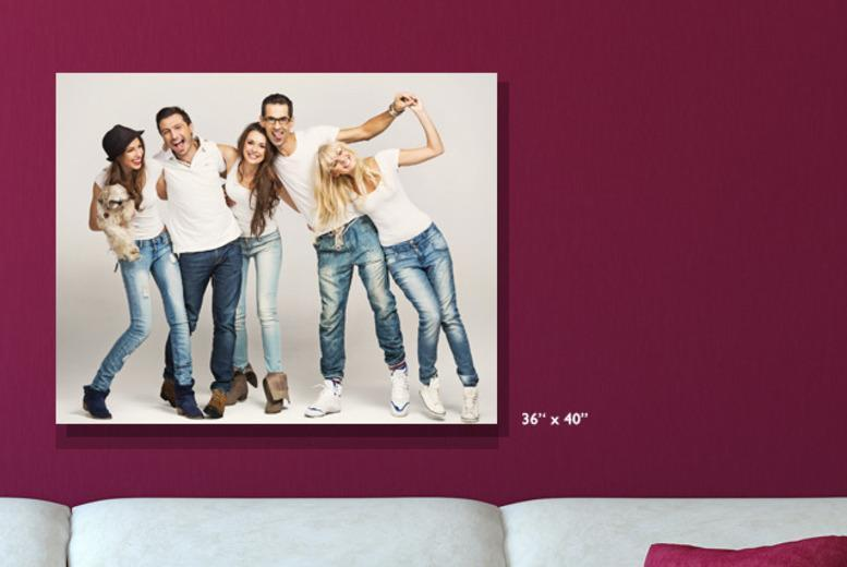 "£29.99 instead of £129.99 (from Smiley Hippo) for a 36"" x 40"" photo canvas - spruce up your walls and save 77%"