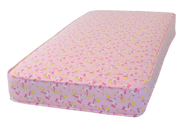 From £29 for a deep-filled spring unicorn mattress in small single, single or small double sizes from Desire Beds!