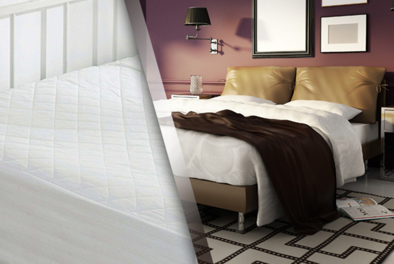 £12.99 for a single Egyptian cotton mattress protector, £14.99 for double, £16.99 for king or £19.99 for super king - save up to 28%