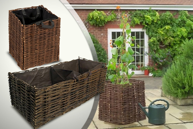 £14.99 instead of £34.99 (from Wowcher Direct) for an 85-litre willow garden planter, or £19.99 for a 2-section planter - save up to 57%